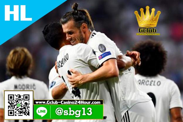 Gclub ไฮไลท์ฟุตบอล ยูฟ่า แชมป์เปี้ยนส์ ลีก เรอัล มาดริด 3-0 โรม่า 19 ก.ย. 2018